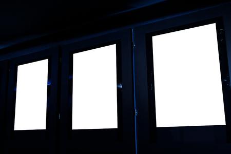 Movie poster frame board inside cinema isolated Standard-Bild
