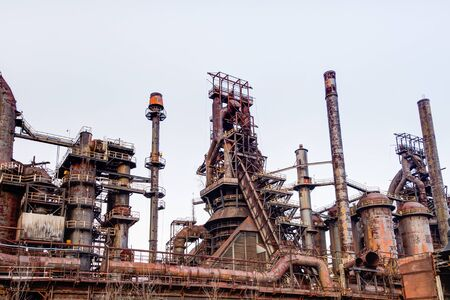 steel: Old Bethlehem Steel Plant in Bethlehem, Pennsylvania Stock Photo