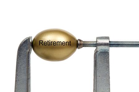 clamp: Retirement golden nest egg under pressure in clamp