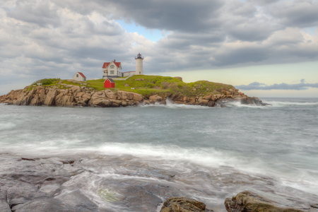 maine: Nubble Lighthouse along the coast of Maine