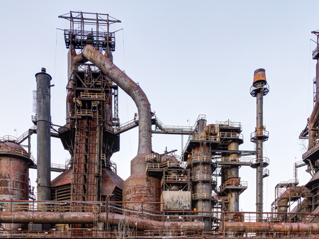 bethlehem: Old Bethlehem Steel Plant in Bethlehem, Pennsylvania Stock Photo