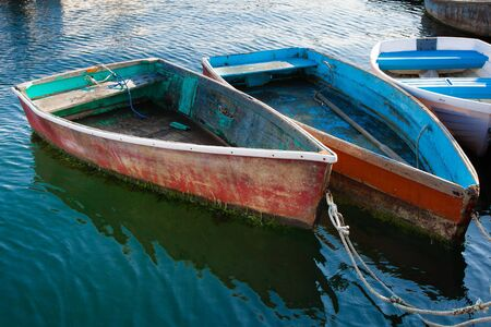 rowboats: Old Wooden Rowboats
