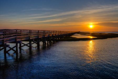 Sunset over the Chase Garden Salt Marsh on Cape Cod