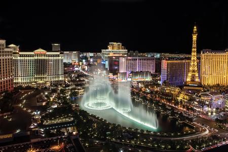 Las Vegas Strip from the Cosmopolitan Casino 에디토리얼