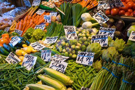 farm market: Fresh vegatables at a farm market Stock Photo