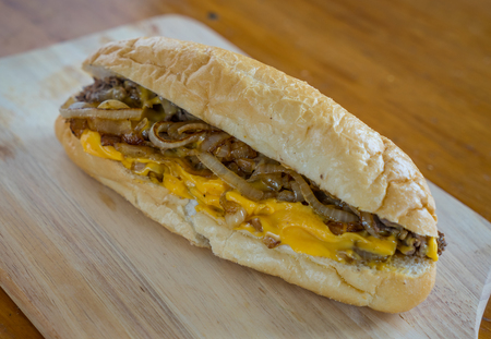 Philly CHeesesteak with Cheese and Fried Onions