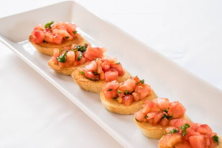 Tomato & basil bruschetta on toast