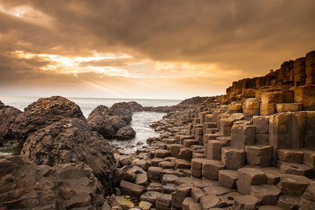 no cloud: According to legend, the interlocking basalt columns are the remains of a causeway built by legendary giant Finn MacCool