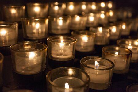 vigil: Prayer Candles in a church