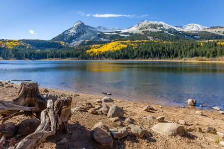 lost lake: Lost Lake along the Kebler Pass in the Gunnison National Forest, Colorado