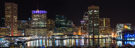 The Inner Harbor is a historic seaport, tourist attraction, and landmark of the city of Baltimore, Maryland, USA.