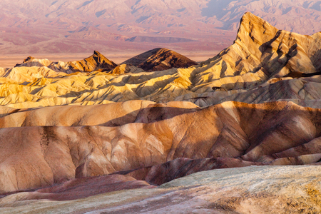 Great: Zabriski Point at sunrise in Death Valley National Park, California