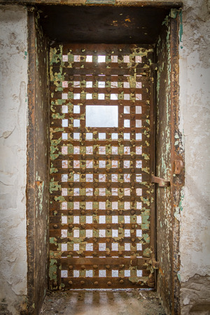 esp: Prison cell door in Eastern State Penitentiary,  also known as ESP, is a former American prison in Philadelphia, Pennsylvania.