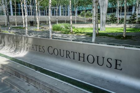 시애틀 워싱턴에있는 미국 법원 기호