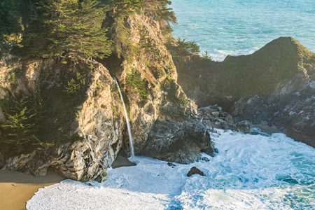 mcway: McWay Falls along the coast of Big Sur, California Stock Photo