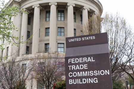 trade: WASHINGTON, DC - MARCH 2016: United States Federal Trade Commission building in Washington, DC
