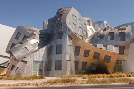 lou: LAS VEGAS, NV - June 30, 2012: The Lou Ruvo Center for Brain Health in Las Vegas Nevada is a unique architectural design by Frank Gehry