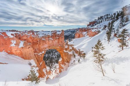 natural bridge: Natural Bridge in winter at Bryce Canyon National Park Stock Photo