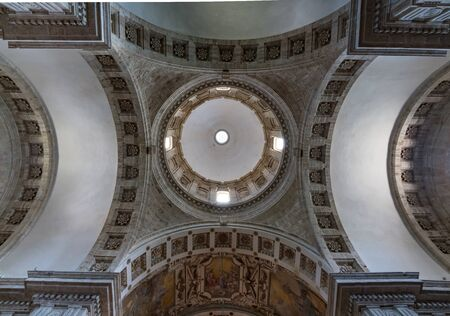 The dome of San Biagio church outside Montepulciano,  Italy in Tuscany