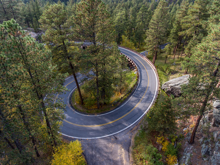 Pigtail bridge along the Needles Highway in the Black Hills of South Dakota Banco de Imagens - 65981035