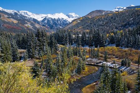 ouray: Autumn in the San Juan mountains of Colorado Stock Photo