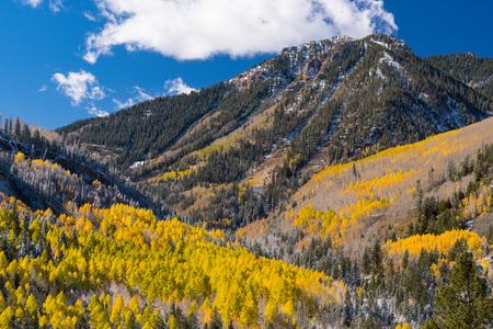 Autumn in the San Juan mountains of Colorado Stock Photo