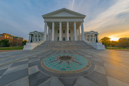 Virginia state capitol building in Richmond at sunrise Stock Photo