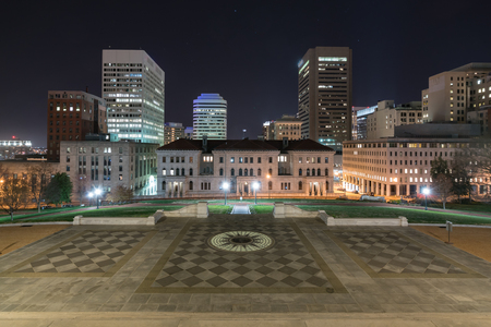 Richmond, Virginia skyline from the steps of the capitol building