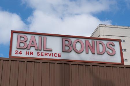 Bail Bonds zeichnen auf der Baustelle Standard-Bild - 79531120