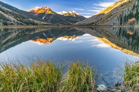 Crystal Lake langs Rode Mountain Pass in het San Juan Mountains of Colorado