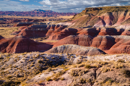 Painted Desert in the Petrified Forest National Park, Arizona 版權商用圖片