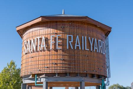 SANTA FE, NM - OCTOBER 13: Santa Fe Railyard Water Tower on October 13, 2017
