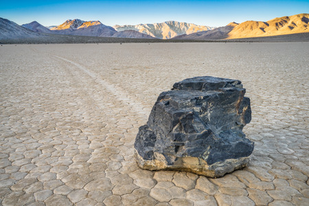 The Racetrack Playa is located above the northwestern side of Death Valley, in Death Valley National Park, Inyo County, California, U.S.