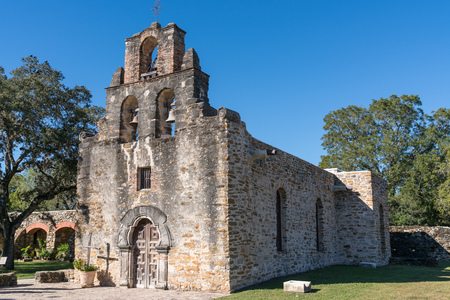 Mission Espada in San Antonio Missions National Historic Park, Texas Stock Photo