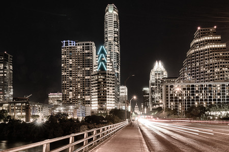 Skyline of Austin, Texas from the Congress Avenue Bridge