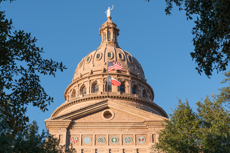Dome of the Texas capitol building in Austin, Texas Stock Photo