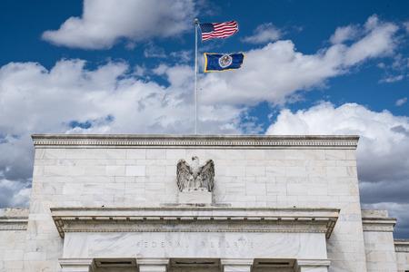 Facade of Federal Reserve Building in Washington DC