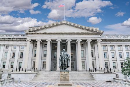 United States Treasury Department Building in Washington, DC 에디토리얼