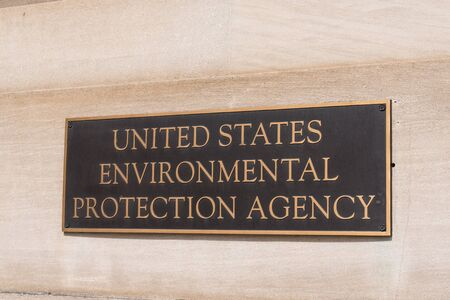 WASHINGTON, DC - MARCH 14, 2018: Environmental Protection Agency sign at the EPA Building in Washington, DC Redakční