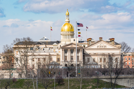 New Jersey state capitol building in Trenton 免版税图像