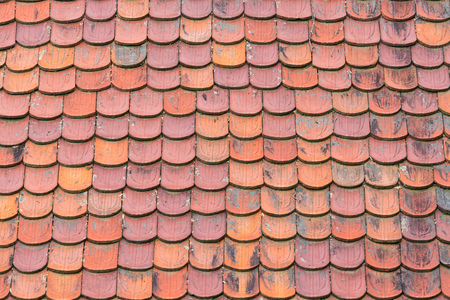 Terracotta clay roof shingles background Reklamní fotografie