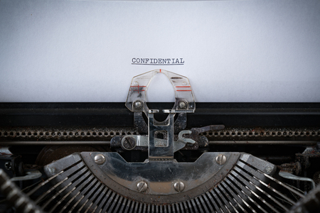 The word Confidential Typed on an old Typewriter