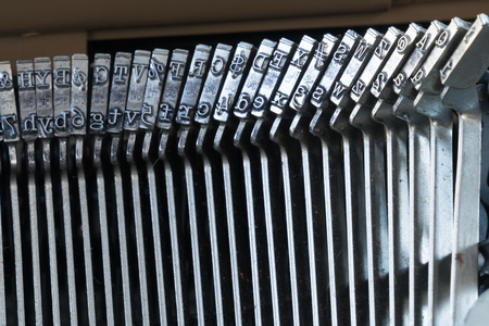 Letter Keys on Old Typewriter