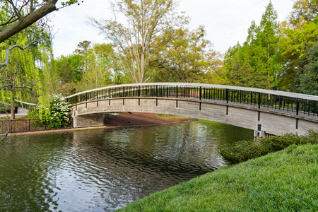 Bridge Over Lake in Pullen Park in Raleigh, North Carolina