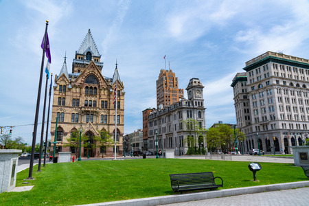 SYRACUSE, NY:  Clinton Square in downtown Syracuse, New York
