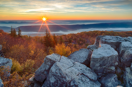 Sunrise on Dolly Sods over the Mountains of West Virginia