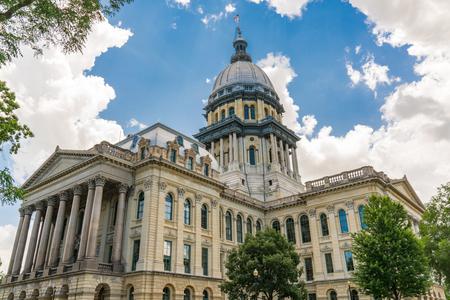 Illinois State Capital Building in Springfield, Illinois Фото со стока