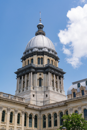 Dome of the Illinois State Capital Building in Springfield, Illinois