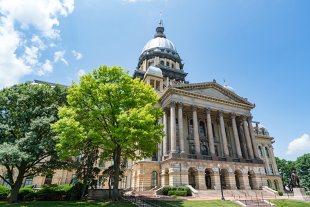 Illinois State Capital Building in Springfield, Illinois 版權商用圖片