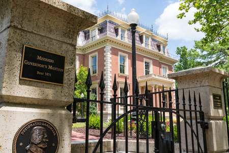 JEFFERSON CITY, MO - JUNE 20, 2018: Historic victorian Missouri Governors Mansion in Jefferson City